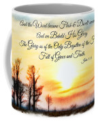 Southern Sunset - Digital Paint II With Verse Coffee Mug by Debbie Portwood