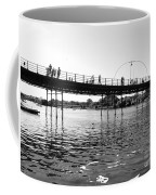 Southport Pier Across The Marine Lake Bw Coffee Mug