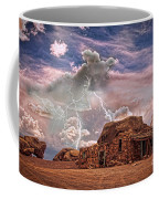 Southwest Navajo Rock House And Lightning Strikes Hdr Coffee Mug