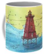 Southwest Reef Lighthouse La Nautical Chart Map Art Cathy Peek Coffee Mug
