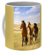 Southwest Wild Horses On Navajo Indian Reservation Coffee Mug