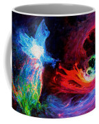 Space Cat Angel - 2 Coffee Mug by Julie Turner