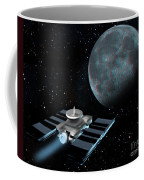 Space Exploration, Moon, Illustration Coffee Mug