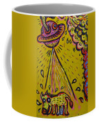 Spaceship Dog Graffiti Coffee Mug