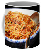Spaghetti And Meat Sauce With Spoon Coffee Mug