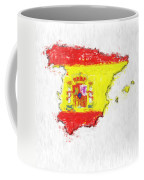 Spain Painted Flag Map Coffee Mug