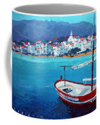 Spain Series 08 Cadaques Red Boat Coffee Mug