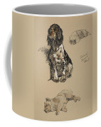 Spaniel, Pekinese And Chow, 1930 Coffee Mug