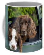 Spaniels In Car Coffee Mug