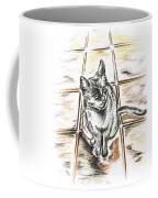 Spanish Cat Waiting Coffee Mug