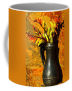 Spanish Flags In Pewter  Coffee Mug