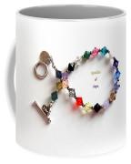 Sparkles Of Hope Cancer Bracelet Coffee Mug by Barbara Griffin