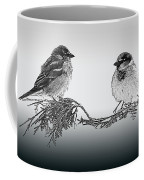 Sparrow Digital Art Coffee Mug