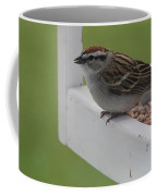 Sparrow On Feeder Coffee Mug