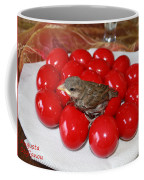 Sparrow On Red Eggs Coffee Mug