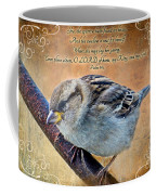 Sparrow With Verse Coffee Mug
