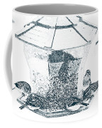 Sparrows In Charcoal Coffee Mug