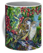 Sparrows On The Hawthorn Coffee Mug