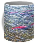 Spawning Salmon In Moraine River In Katmai National Preserve-ak Coffee Mug
