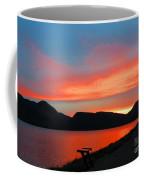 Spectacular Sunset On The Lake. Yellowstone. Coffee Mug