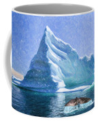 Sperm Whale Fluke In Front Of Iceberg Coffee Mug