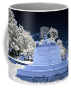 Sphinx Profile Near Infrared Blue And White Coffee Mug