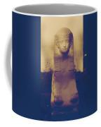 Sphinx Statue Blue Yellow And Lavender Usa Coffee Mug