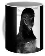 Sphinx Statue Torso Black And White Usa Coffee Mug
