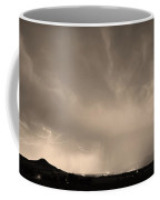 Spider Lightning Above Haystack Boulder Colorado Sepia Coffee Mug by James BO  Insogna