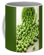 Spilled Bowl Of Green Peas Coffee Mug