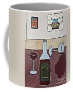 Essence Of Home - Spilt Glass Of Wine Coffee Mug