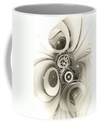 Spiral Mania 2 - Black And White Coffee Mug