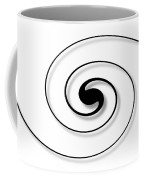 Spiral White Coffee Mug