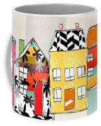 Spirit House Row Coffee Mug by Linda Woods