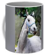 Spirited Grey Horse Coffee Mug