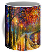 Spirits By The Lake - Palette Knife Oil Painting On Canvas By Leonid Afremov Coffee Mug