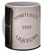 Spiritueux Vins Liqueurs Coffee Mug