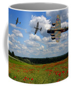 Spitfires Lancaster And Poppy Field Coffee Mug