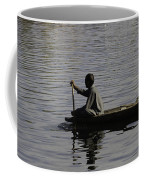 Splashing In The Water Caused Due To Kashmiri Man Rowing A Small Boat Coffee Mug