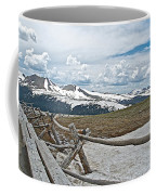 Split Rail Fence Near Alpine Visitor's Center In Rocky Mountain Np-co Coffee Mug
