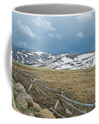 Split Rail Fence On East Side Of Trail Ridge Road In Rocky Mountain National Park-colorado Coffee Mug