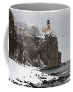Split Rock Lighthouse Winter 19 Coffee Mug