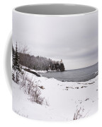 Split Rock Lighthouse Winter 7 Coffee Mug