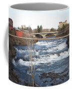 Spokane Falls In Winter Coffee Mug