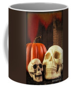 Spooky Halloween Skulls Coffee Mug by Edward Fielding