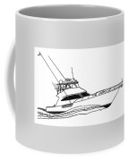 Sport Fishing Yacht Coffee Mug by Jack Pumphrey
