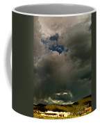 Spot Light On Grey Clouds Coffee Mug