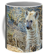 Spotted Hyena Pup In Kruger National Park-south Africa  Coffee Mug