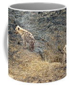 Spotted Hyena Pups In Kruger National Park-south Africa Coffee Mug