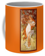 Spring Coffee Mug by Alphonse Maria Mucha